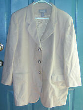Womens LANE BRYANT DESIGNS brown BLAZER JACKET 100% Wool Size 18 USED clothes