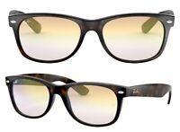 Ray-Ban Damen Herren Sonnenbrille RB2132 710/Y0 55mm New Wayfarer F D6 H
