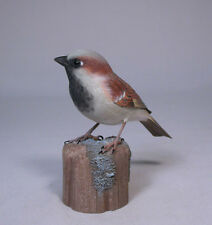 House Sparrow Original Backyard Bird Carving/Birdhug