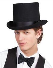 Negro Sombrero De Fieltro Top Circo Moulin Rouge para hombre Victoriana FANCY DRESS COSTUME Fiesta