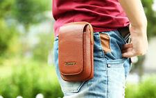Flip Zipper Leather Wallet Pouch Bag Holster Belt-Clip Case Cover For Phone