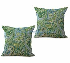 US SELLER- set of 2 cushion covers paisley vintage flower living room pillows