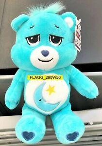 "9"" Care Bears Bedtime Bear Stuffed Bean Plush Moon Star Dreams Are My Thing 2021"