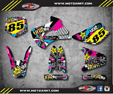 1998 - 2013 Kawasaki KX 85 custom graphics kit RUSH STYLE decals sticker kit