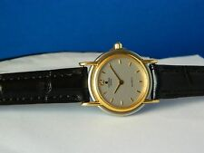 GENUINE UNIVERSAL GENEVE 14K SOLID GOLD & STAINLESS SWISS LADIES DRESS WATCH