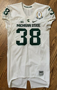 Michigan State Spartans Nike Authentic Away Game Used Worn Jersey - B. Bullough