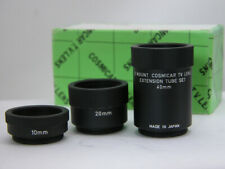 New C-MOUNT EXTENSION TUBE SET For 16mm Macro Close Up Filming For Bolex 16mm