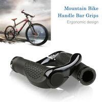 Mountainbike Lenker Griffe Doppel Verschluss auf BMX + Enden Anti-Rutsch Schwarz
