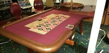 "Casino Roulette Wheel 00 32"" Huxley with Custom Table"