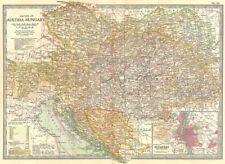 AUSTRIA-HUNGARY. Empire; Budapest; Bosnia Croatia Slavonia Dalmatia 1903 map