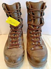 Used Karrimor Genuine Cold Wet Weather Brown Combat Boots Male UK 10W #4031