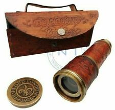 "vintage long  Brass Nautical Antique Telescope 18""Long spyglass Halloween gift"