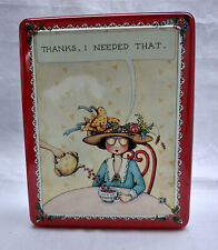 "Mary Engelbreit ""Thanks, I Needed That"" Tin Kindness/Love/Hearts/Tea Party 1990s"