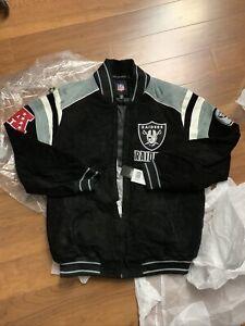 NFL Oakland Raiders Black Jacket Size XL Brand New