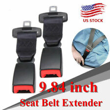 "2pcs Safety Seatbelt Extender Extension Car Seat Lap Belt 15 inch 7/8"" Buckle"