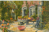 Postcard Pirate House Garden, Charlestown, SC Posted 1944