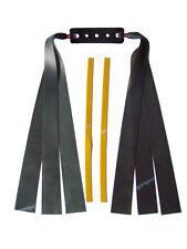3 Fach Theraband schwarz Flachbandgummi/ Länge 25cm/ Schleuder,Zwille,slingshot