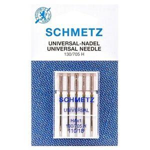 Aiguilles universal Schmetz 110/18 Aiguilles machine à coudre 5 pcs