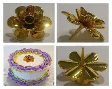 Candle Holder for Cake- Single Holder Gold Tone