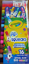 Genuine CRAYOLA 16-Pack PIP SQUEAKS Bright Color Markers Pens Washable FRESH NIP