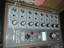 Geloso G1 503 Vintage Sound Mixer 8 Pre-amp Mic channels Italy 1970 Wooden Box