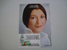 advertising Pubblicità 1972 SAPONE PALMOLIVE e CARLA FRACCI