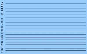 ARCHER FINE TRANSFERS SURFACE DETAILS: RAISED PANEL LINES   88013