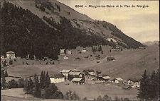 Morgins les bains Suisse Wallis AK 1910 passeport pas Paysage Montagnes maisons Forêt