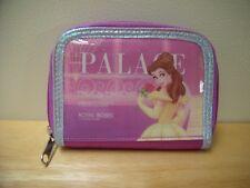 Disney Pink Purple Beauty&The Beast Belle Princess Zipper Coin Snap Money Wallet