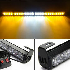 12V 24 LED Bar Car Roof Warning Light Magnetic Yellow White Yellow Flash Lamp