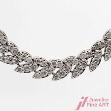 Collier Halskette 850er Platin 9,68 ct Diamanten Brillanten 40 cm