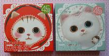 BOITE lot 45 stickers autocollants CHATS KAWAII import COREE scrapbooking