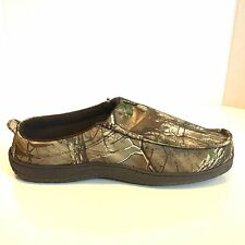 Realtree Camouflage Clogs Slippers Brown Rubber Grip Size L Men's Size 9 or 10