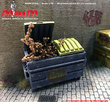 1:35 scala Garbage Container / DUMPSTER / bin-DIORAMA Accessorio