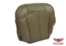 1999 00 01 2002 Chevy Silverado Driver Bottom Replacement Leather Seat Cover Tan