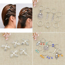 Dreadlock Beads Dread Hair Braid Snowflake Cuff Clips Accessories DIY Hairstyle