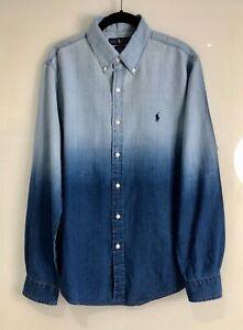 Men's Ralph Lauren Shirt, Denim, Large Slim Fit, NEW!