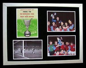 WEST HAM 1965 EUROPEAN CUP WINNERS CUP FINAL LTD FRAMED+EXPRESS GLOBAL SHIPPING