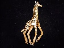 / brooch Pewter Wow 3 Inches High New listing Wow beautiful ( Enameled Giraffe pin