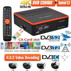 Genuine 4K DVB S2/T2 FTA Satellite TV Receiver 8K PVR Android 9.0 Smart TV BOX