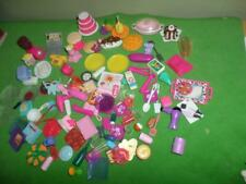Barbie Food Dishes Milk pie Cake Fruit Sundae Eggs Huge Kitchen Replacement LOT