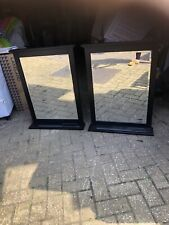 Large Mirror  In dark brown With Shelf   2 Available