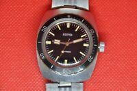 Vintage Soviet Vostok 2209 Amphibian watch Tonneau Barrel black dial paddle hand