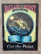 Ballast Point Sea Monster Imperial Stout Beer Brewery Vintage Ad Metal Sign CA