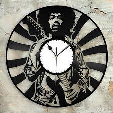 Jimi Hendrix Record Clock Vinyl Wall Art Home Bedroom Decor Decorative Design