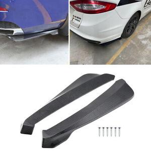 2pc Glossy Carbon Fiber Car Bumper Canard Splitter Diffuser Valence Spoiler Lip