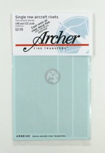 Archer 1/48 (& 1/32) Single Row Aircraft Rivets (.23mm with 3 spacings) AR88140