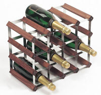 RTA Traditional 16 Bottle Assembled Wood and Steel Wine Rack - 3 Variations