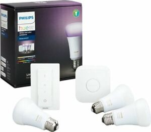 Philips Hue LED Starter Kit with Wireless Switch - (556704)  New Open Box