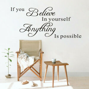 if you believe in yourself inspirational quotes wall decals decorative stickN KN